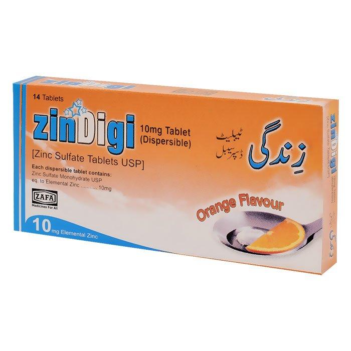 Zindigi Tablets 10mg Dispersible Zafa Pharmaceutical Laboratories