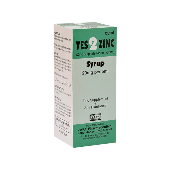 Anti Diarrhoeal Zinc Supplement Zafa Pharmaceutical Laboratories