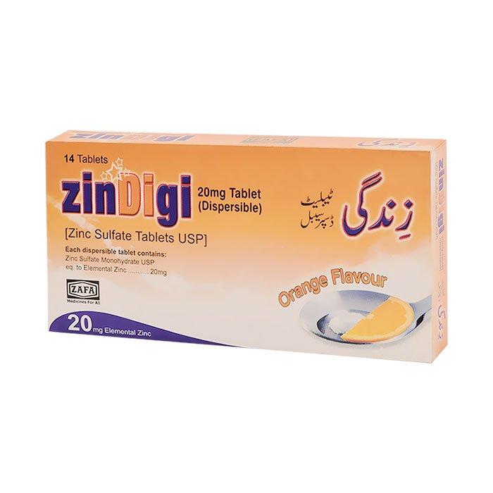 Zindigi Tablets 20mg Dispersible Zafa Pharmaceutical Laboratories